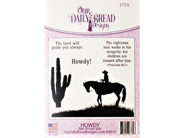 Our Daily Bread Howdy! Rubber Cling Stamp Set