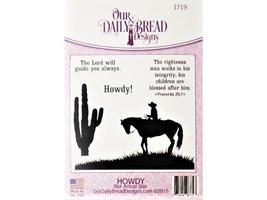 Our Daily Bread Howdy! Rubber Cling Stamp Set image 1