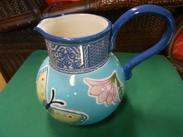 "Beautiful Fitz & Floyd ""Courtyard"" Handpainted Pitcher - $39.19"