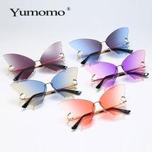 Butterfly frameless sunglasses ladies luxury brand designer fashion oversized st image 6