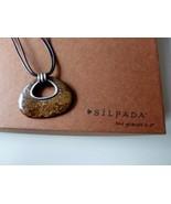 SILPADA Bronze Age Bronzite Pendant Leather Necklace N2014 RETIRED - $32.59