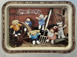 Cabbage Patch Kids Dolls Vtg Metal Kids TV Tray Bed Tray With Folding Legs 1980s - $28.84