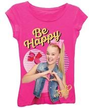 NWT Pink JoJo Siwa Glitter Graphic Be Happy T-Shirt - $11.99