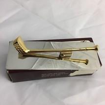 New Vintage Brass Club Desk Letter Memo Cip Holder, Paper weight - $14.96