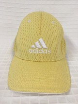 vented ADIDAS light yellow hat STRAP adjustable back baseball Cap Golf - $12.87