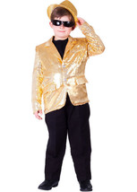 Gold Sequined Blazer Child Costume Set - $34.80