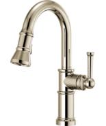 "Brizo 63925LF-PN 14"" Artesso Prep Faucet, Polished Nickel - $498.75"