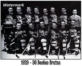 NHL 1929 - 30 Boston Bruins Team Picture Black & White  8 X 10 Photo Fre... - $9.99