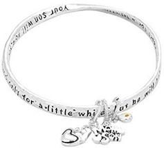 Women Mom Son Heart Charm Twist Bangle Bracelet... - $33.85