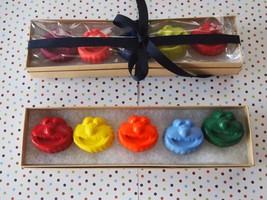 Elmo Sesame Street Crayons, Handmade,  Set Of 5 ELMO Crayons, Non Toxic,  - $11.95