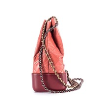 BRAND NEW AUTH 2018 Chanel Pink Gabrielle Quilted Leather Bucket Bag GHW  image 3