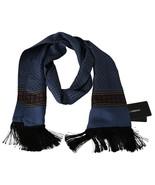Men's Dolce & Gabbana Blue Baroque 100% Silk Scarf - £98.25 GBP