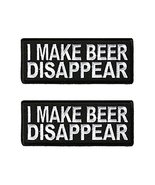 I Make Beer Disappear Iron On Patch 4 x 1.5 inch - Lot of 2 - $9.85