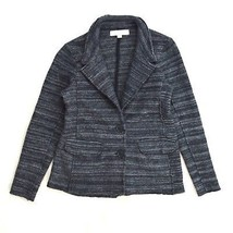 ANN TAYLOR LOFT Charcoal Stripe Graphite Merino Wool Casual Jacket Coat Petite S - $9.89