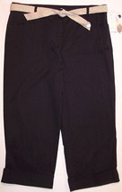NWT Charter Club Black Crop Capri Pants w/ Eyel... - $13.99