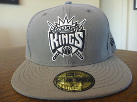 SACRAMENTO KINGS NEW ERA 59FIFTY NBA STORM GRAY FITTED HAT/CAP SIZE 7 1/... - $23.99
