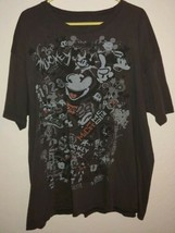Vtg Walt Disney World T-shirt Size 2XL Black Mickey Mouse Retro - $12.82