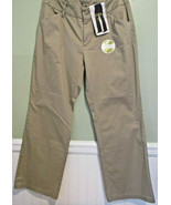 Riders by Lee Curvy Trouser Tan Khaki Midrise Casual Pants 14 P New - $17.59