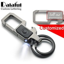 Dalaful Custom Lettering Keychain LED Lights Lamp Beer Opener Bottle Eng... - $12.00