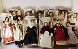 FRANKLIN MINT- MAIDS OF THE 13 COLONIES ALL 13 PORCELAIN DOLLS W/BOX HAN... - $159.95