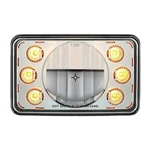 """United Pacific LED 4"""" X 6"""" Headlight w/ Dual Function 6 Amber LED Position Light - $163.59"""