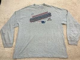 New England Patriots NFL 2011 AFC Champions Long Sleeve T-Shirt Size 2XL... - $28.59