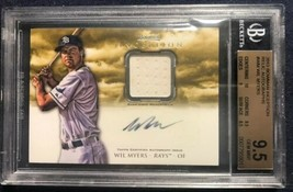 WIL MYERS 2013 Bowman Inception Relic Autographs BGS 9.5 Rays AUTO 10 RC... - $38.69