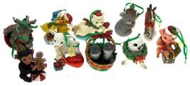 The Danbury Mint Animal Christmas Ornaments Lot 10 Rhino Lamb Koala Bear... - £73.96 GBP