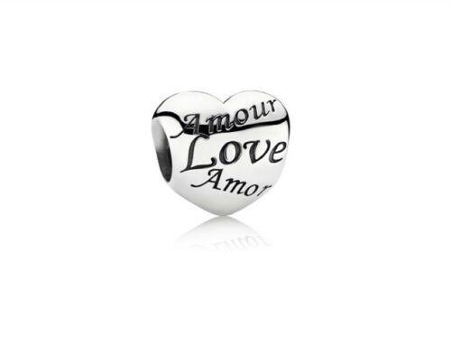 AUTHENTIC PANDORA Language Of Love Charm,791111
