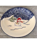"""Thomson Pottery Snowman 10 1/4"""" Round Dinner Plate Retired Pattern - $11.99"""