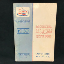 Cessna 1969 172 Model and Skyhawk Owners Manual VTG - $28.49