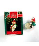 Vintage 1990 Hallmark Hark! It's Herald the Elf Christmas Ornament -QX446-3 - $5.99