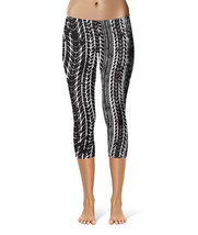 Tire Marks Car Bike Trucker Sport Capri Leggings - $30.99 - $36.99