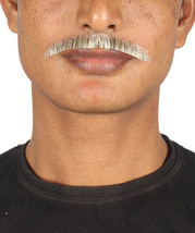 Men's Painter Brush Style Moustache Set   Gray Cosplay Facial Hair - £11.78 GBP