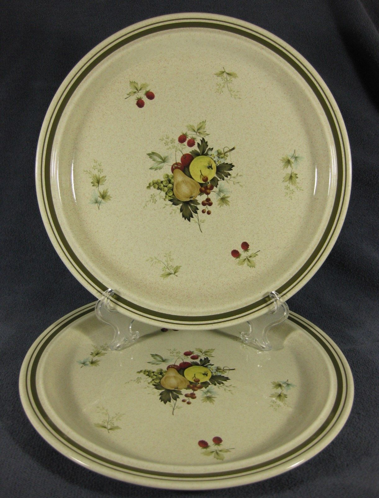 Primary image for Royal Doulton Cornwall LS1015 Lot of 2 Dinner Plates Lambethware Fruits
