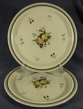 Royal Doulton Cornwall LS1015 Lot of 2 Dinner Plates Lambethware Fruits - $54.97