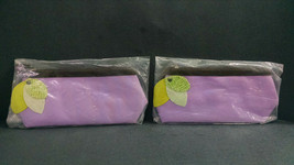 Lot of 2 Mary Kay Tropical Fruits Travel Cosmetics Bags, Purple, Zippered - $12.59
