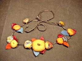 Vintage Art Nouveau Hand Made Silk Flower Belt or Necklace Textile Arts ... - $49.01
