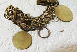 Vintage Danecraft 1/20 12K Gold Filled Charm Bracelet With 7 Vintage Charms - $56.09