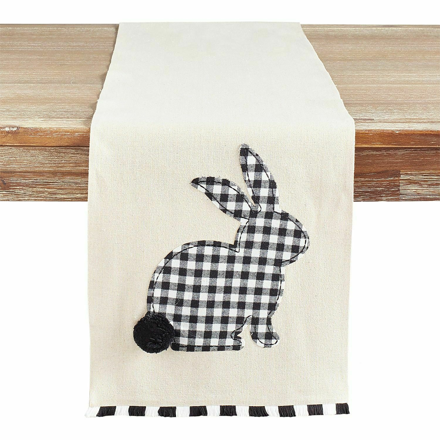 Primary image for NWT Pier 1 Imports GINGHAM  Easter RABBIT Table Runner 13 x 72