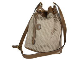 Auth GUCCI Vintage GG Patterns Nylon Canvas Leather Drawstring Shoulder Bag - $249.00
