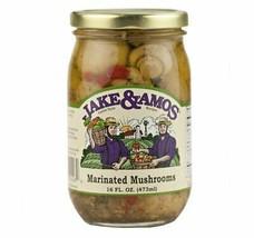 Jake & Amos Marinated Mushrooms, 16 Oz. Jar (Pack of 2) - $24.46