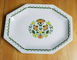 Johnson Brothers Greenfield Large Serving Platter White Green Mosaic - $14.84