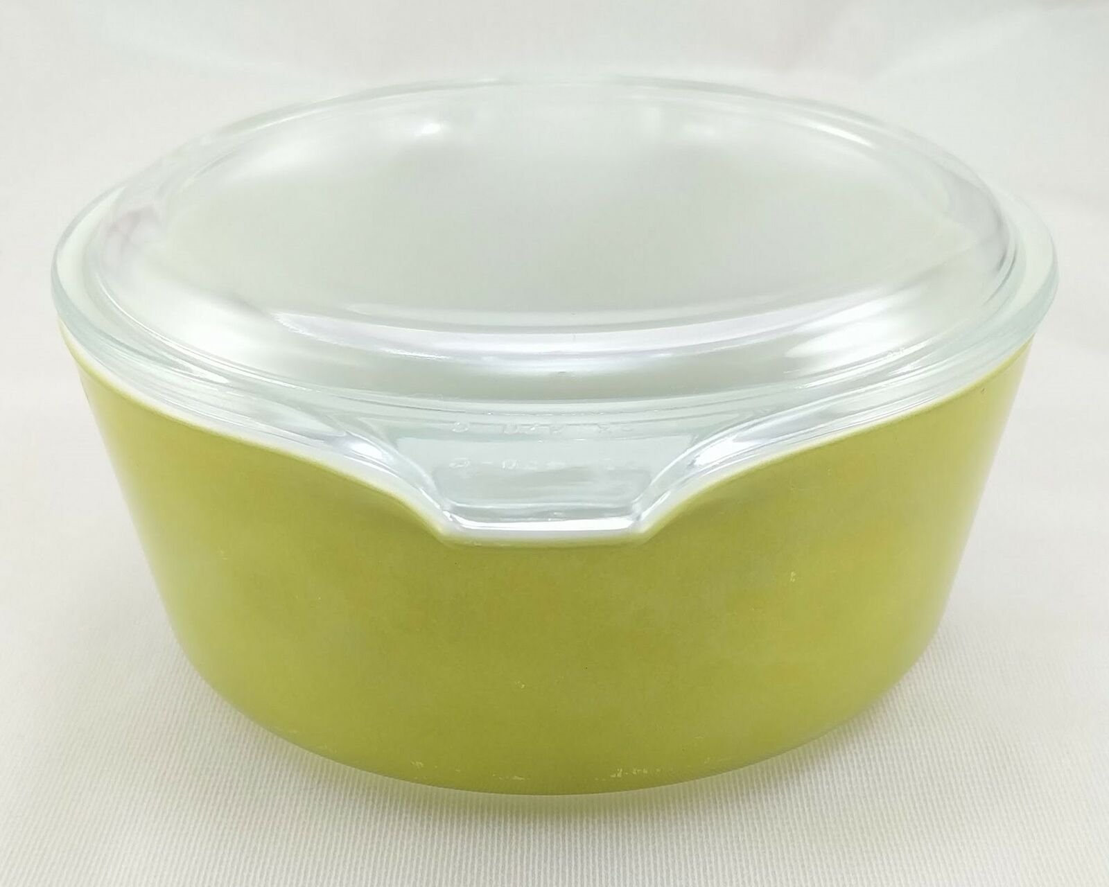 Pyrex 472 Olive Green Vintage 1½ Pint Casserole w/ 470-C Lid ~ Made in the USA image 2