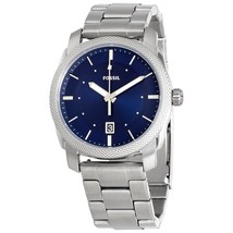 Fossil Machine Blue Dial Stainless Steel Men's Watch FS5340 - $272.00