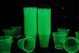 Green Blacklight Reactive 2oz Shot Glasses 50ct - $8.95