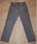 GLORIA VANDERBILT GRAY STRAIGHT LEG JEANS DENIM PANTS 14 AVERAGE 32x30 H... - $9.99