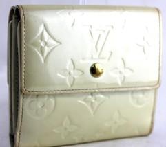 Auth Louis Vuitton monogram vernis leather beige  Bifold  Wallet France TH0095 - $114.05