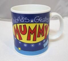 Worlds Greatest Mummy Ever Coffee Mug Archies Mugs England Orig Tag Moth... - $29.69