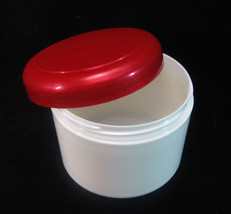 20 Cosmetic jars Plastic Beauty Cream Containers Red Dome Lid 7.5 oz 225... - $29.95